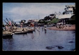 B9686 LIBERIA PEOPLE FOLKLORE - FREETOWN - BULLOM BOATS - Liberia