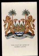 B9696 SIERRA LEONE - COAT OF ARMS OF SIERRA LEONE - UNITY FREEDOM JUSTICE - Sierra Leone