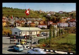 B9697 SVIZZERA - TICINO - PONTE CHIASSO - CONFINE ITALO-SVIZZERO VALICO DI BROGEDA CON AUTO VG 1966 - TI Tessin