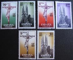 R1703/677 - 1960 - ESPAGNE - SERIE COMPLETE - N°965 à 970 NEUFS** - Cote : 10,00 € - 1931-Today: 2nd Rep - ... Juan Carlos I