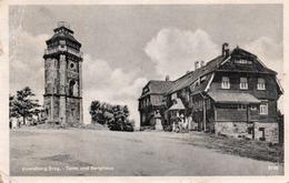 AUERSBERG/ERZG-TURM UND BERGHAUS-1955 - Auersberg