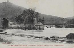 VILLEFRANCHE DE ROUERGUE  :(Aveyron ) ; Cofluence De L'ALZOU Et AVEYRON Durant La Crue De 1906 - Villefranche De Rouergue