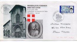 1996--FDC --enveloppe Rectangle  Cathédrale De Chambéry -73 - 1990-1999
