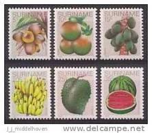 Republic Of Surinam, Republique De Surinam, Republiek Suriname Year 1978 Nrs 140/145 Postfris/MNH Vruchten/Fruits - Suriname
