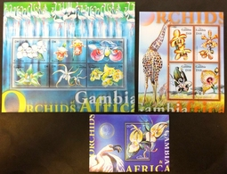 Gambia 2001** Klb.4256-61,klb.4262-65,bl.543 Orchids MNH [8.13] - Orchideen