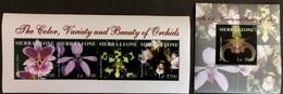 Sierra Leone 2004** Klb.4554-57 + Bl.654 Orchids MNH [10;87] - Orchideen
