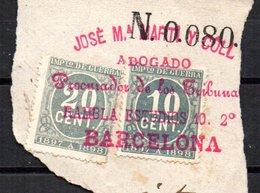 Sellos  De Impuestos De Guerra. 1897 - Usados
