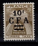 Reunion - Taxe YV 42 N** Gerbes Cote 3 Euros - Reunion Island (1852-1975)