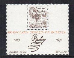 Polonia - 1977 - Foglietto 400° Anniversario Della Nascita Di P.P. Rubens  - Nuovo - Vedi Foto - (FDC13312) - Blocchi E Foglietti