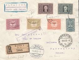 Österreich 1922: REKO/Flugpost Mischfrankatur Vorderseite  Wien-Schweiz V. 8.11.1922.(siehe Foto) - 1918-1945 1. Republik