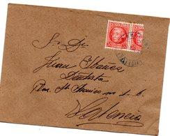 Carta Con Matasellos Azul De 1939 - 1931-50 Storia Postale
