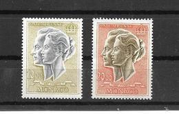 MONACO - AERIEN -2 TRES BEAUX TIMBRES NEUFS * * N° 90 ET 90A DE 1966-71 - Poste Aérienne