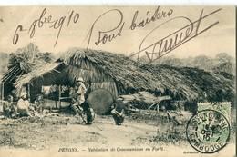 CAMBODGE - INDOCHINE : Penons - Habitations Communistes En Forêt - Cambodia