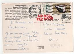 Beaux Timbres , Stamps Sur Cp , Carte , Postcard Du 12/11/1987 - Etats-Unis