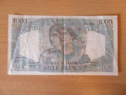 France - Billet Rare 1000 Francs Minerve 9-1-1947 - TTB (qqles Plis Et Trous D'épingles - 1871-1952 Circulated During XXth