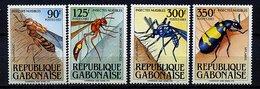Rep. Gabon ** N° 545 à 548 - Insectes Nuisibles - Gabon (1960-...)