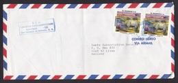 El Salvador: Airmail Cover To Netherlands, 1982, 2 Stamps, Dinosaur, Toxodon, Prehistoric Animal, Rare! (traces Of Use) - El Salvador
