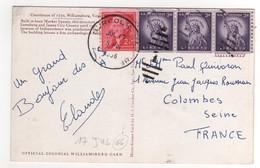 Beaux Timbres , Stamps Sur Cp , Carte , Postcard Du 17/07/1966 - Etats-Unis