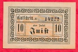 Allemagne 1 Notgeld De 10 Pfenning Stadt Juist état   N °2105 - [ 3] 1918-1933 : République De Weimar
