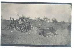 Photo Guerre 1914/1915 - Groupe De Soldats Assis - Guerre, Militaire