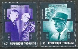 Togo Poste Aérienne YT N°146/147 Général Charles De Gaulle Neuf ** - Togo (1960-...)