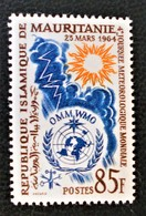 JOURNEE METEOROLOGIQUE MONDIALE 1964 - NEUF ** - YT 177 - MI 229 - Mauritania (1960-...)