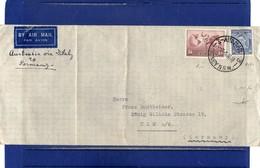 ##(DAN1812)-Postal History-Australia 1938-Airmail Cover From Sydney To Ulm/Germany Via Italy - 1937-52 George VI