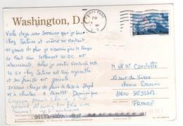 Beau Timbre , Stamp Par Avion à 80 Cents Sur Cp , Carte , Postcard De May 2002 - Etats-Unis
