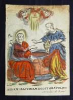 Rare Image Pieuse Gravure Sur Cuivre Tirée Sur Vélin Et Rehaussée Vers 1700 Par Cornelius De Boudt -Bénédiction De L'eau - Images Religieuses