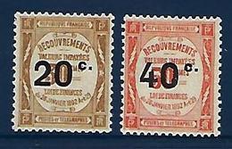 """FR Taxe YT 49 & 50 """" Surchargés """" 1917 Neuf** - Segnatasse"""