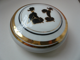 Petite Boîte à Bijoux Ronde En Porcelaine De Limoges - Boîtes/Coffrets