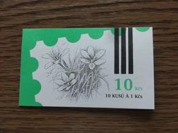 CZECHOSLOVAKIA 1991, BOOKLET ( MARKENHEFTCHEN ), MNH. PROTECTED  FLOWERS. Good Condition, See The Scans. - Pflanzen Und Botanik
