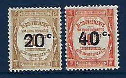 """FR Taxe YT 49 & 50 """" Surchargés """" 1917 Neuf* - Segnatasse"""