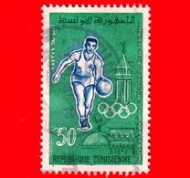 TUNISIA - Usato - 1960 - Giochi Olimpici Di Roma -  Basket - 50 - Tunisia (1956-...)