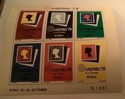 ERINNOFILI VIGNETTE CINDERELLA - EURPHILA '78 ROMA - Erinnophilie