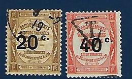 """FR Taxe YT 49 & 50 """" Surchargés """" 1917 Oblitéré - Taxes"""