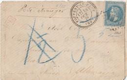 """N° 29( Dft) / Lettre (.) GC 1573 De FOUVENT LE HAUT  ( Franche Comté) / 18.10.1870 """" PAR VOIE De SUISSE """" -> MAYENCE / A - 1849-1876: Classic Period"""