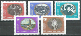 Togo YT N°687/691 Organisation Des Nations Unies Neuf ** - Togo (1960-...)