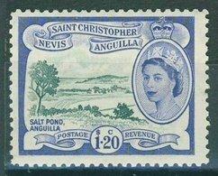 St. Kits Nevis & Anguilla 1954 $1.20 - Deep Green & Ultramarine Sg.117 MVLH* - St.Christopher-Nevis-Anguilla (...-1980)