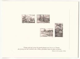 Carton Souvenir Du Salon Du Timbre Octobre 1994 - Non Classés