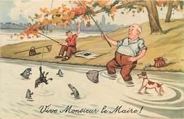Themes Div-ref Z155- Illustrateurs - Illustrateur - Humour -humoristique - La Peche A La Ligne - Pecheur  - - Humour