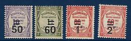 "FR Taxe YT 51 à 54 "" Taxes Surchargées "" 1917 Neuf**/* - Segnatasse"