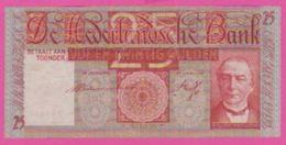 PAYS BAS - 25 Gulden Du 19 03 1941  - Pick 50 TB+ - [2] 1815-… : Royaume Des Pays-Bas