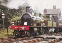 1885 Adams Radial Loc - Eisenbahnen