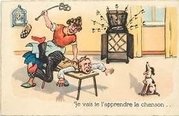 Themes Div-ref Z151- Illustrateurs - Illustrateur - Humour -humoristique - Tourne Disque -la Chanson - La Féssée - - Humour