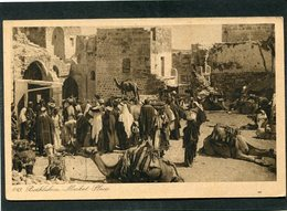 CPA - BEHLEHEM - Market Place, Très Animé - Israel