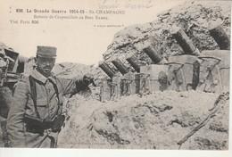 La Grande Guerre 1914-15-En Champagne-Batterie De Crapouillots Au Bois Sabot. - Weltkrieg 1914-18