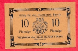 Allemagne 1 Notgeld De 10 Pfenning Stadt  Baruth UNC  N °2116 - [ 3] 1918-1933 : République De Weimar