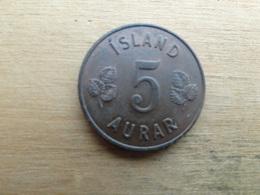 Islande  5  Aurar  1966  Km 9 - Iceland