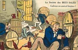 Themes Div-ref Z149- Illustrateurs - Illustrateur - Humour -humoristique -poivrots -alcool -alcoolisme -poivrot -ivrogne - Humour